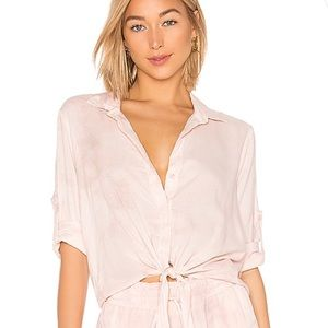 Bella Dahl tie front button down top Anthropologie